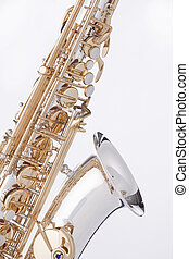 Saxophone Alto Isolated On White - A professional gold and...