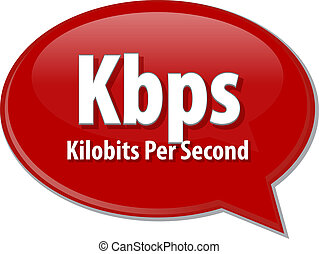 Kbps acronym definition speech bubble illustration - Speech...