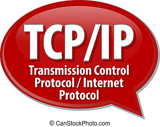 TCPIP acronym definition speech bubble illustration - Speech...