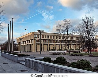 Lithuanian parliament - seimas - The Vilnius - capital of...