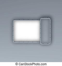 metal frame border background