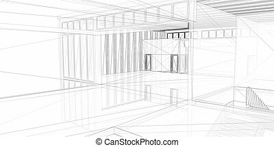 Abstract architectural 3D