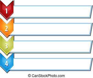 Four blank business diagram chevron list illustration -...