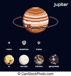 Retro Jupiter and moons