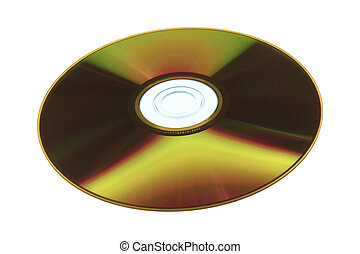 DVD - Cd or dvd, recordable side isolated on white