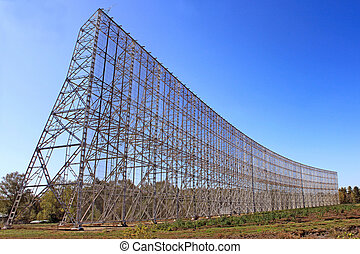 radio telescope - radar for the radio telescope for viewing...