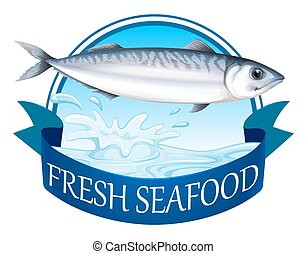 Tuna banner - Fresh tuna with advertisement banner
