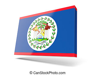 Square icon with flag of belize