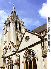 steeple - photograph of the steeple of the church...