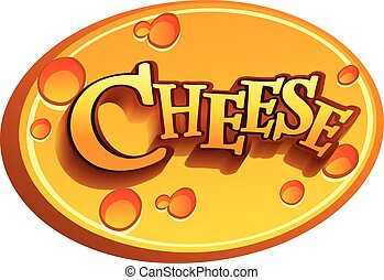 Cheese - Logo of a Cheese on white background