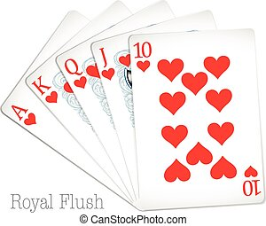 Royal flush - Poker cards show royal flush