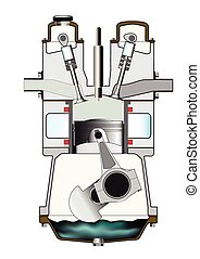Diesel Induction Stroke - The induction stroke of a diesel...