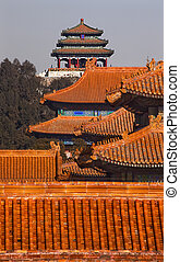 Jinshang Park Pavilions from Forbidden City Yellow Roofs...
