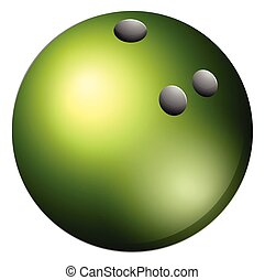 Bowling ball - Close up green bowling ball