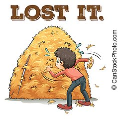 Sayings - Poster of a saying Lost It with a man trying to...