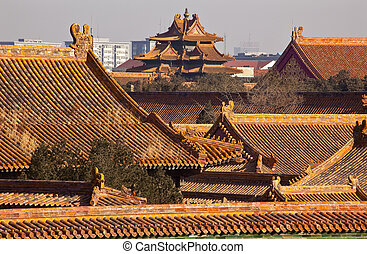 Watch Tower Forbidden City Yellow Roofs Gugong Decorations...