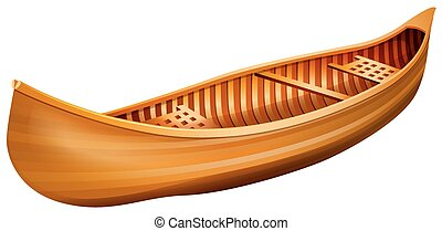 Canoe - Wooden canoe in simple design