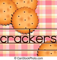 Crackers - Poster of crackers with white and pick background