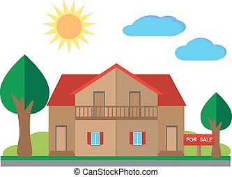 House for sale illustration