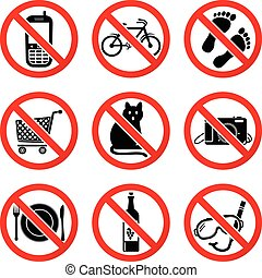 Set Prohibited Signs