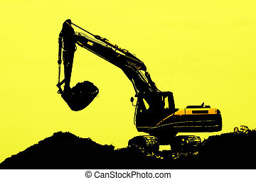 tracked excavator - Excavator loader machine during...