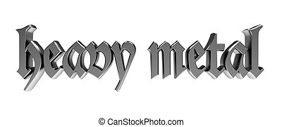 heavy metal in gothic metallic typography
