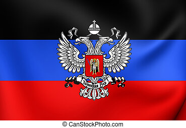 Flag of Donetsk Peoples Republic - 3D Flag of the Donetsk...