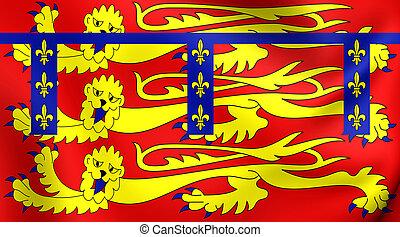 Duchy of Lancaster Standard - 3D Duchy of Lancaster Standard...