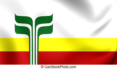 Flag of Franco-Manitobans, Canada - 3D Flag of the...