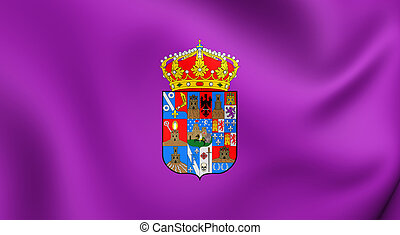 Flag of Guadalajara Province, Spain. - 3D Flag of the...