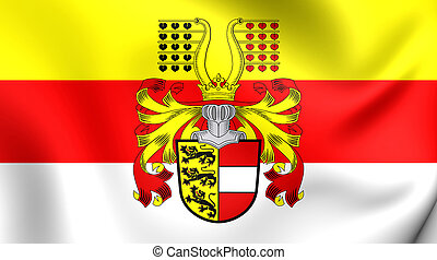 Flag of Carinthia, Austria - 3D Flag of the Carinthia,...