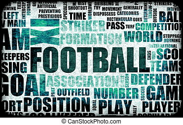 Football Background - Football Soccer Grunge as Abstract...