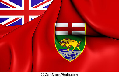 Flag of Manitoba, Canada - 3D Flag of Manitoba, Canada Close...