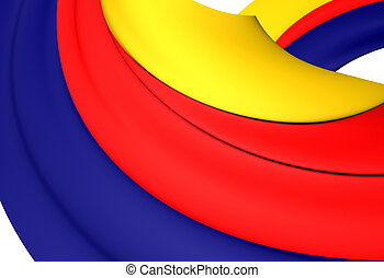 Flag of North Holland, Netherlands. - 3D Flag of the North...
