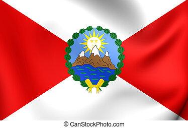 First Republican Flag of Peru (1821). Close Up.