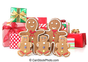 Gingerbread Family at Christmas Time - Adorable Gingerbread...