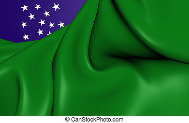 Flag of Vermont Republic - 3D Flag of the Vermont Republic...