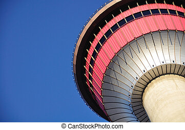 Calgary Tower a Calgary tourist attraction with dramatic...