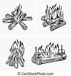 Bonfire - Set of Bonfires