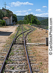 Disused railway station at Lu Lioni in Sardinia