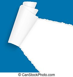 ripped open paper blue - vector of ripped open paper colored...