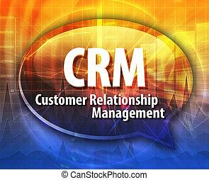CRM, acrônimo, palavra, fala, bolha,...