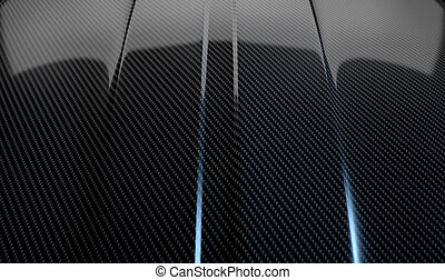 Car Contour Carbon Fibre - An abstract section of the...