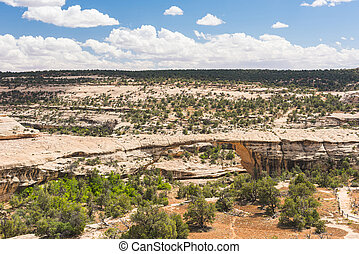 Owachomo Bridge in Natural Bridges National Monument. Utah,...