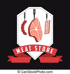 butchery house design, vector illustration eps10 graphic
