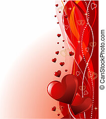 Valentine\'s day background - Grange vector Valentine's Day...