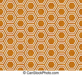 Orange and White Hexagon Tile Pattern Repeat Background that...