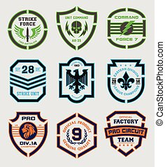 Stencil shield shapes - Various shaped shield elements