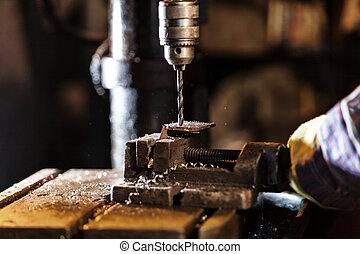 dettaglio,  drill-machine