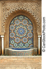 Ablution - Traditional moroccan ornament, Morocco, Rabat